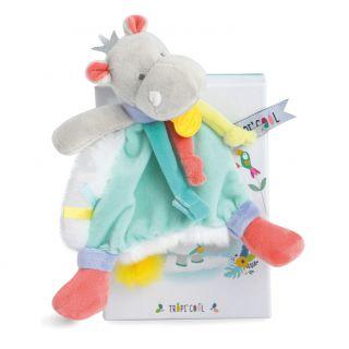 Плюшена играчка Хипопотам Tropicool - Doudou et Compagnie