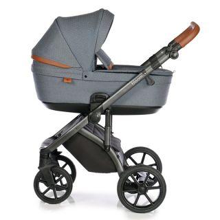 Бебешка количка 2в1 BLOOM BLUE DOTS - ROAN 2020