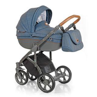 Бебешка количка 2в1 BASS SOFT CHEVRON BLUE - ROAN 2017