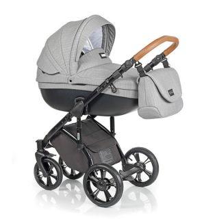 Бебешка количка 2в1 BASS SOFT CHEVRON GREY - ROAN 2017