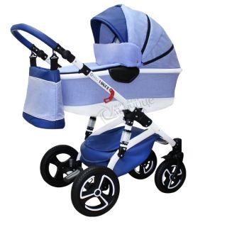 Бебешка количка VOGUE LUX BABY BLUE - NIO 2018