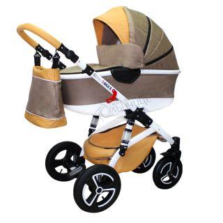 Бебешка количка VOGUE LUX BEIGE PASTEL - NIO
