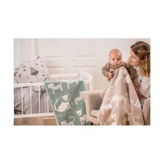 Бебешко бамбуково одеяло - Лъвове и тигри