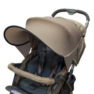 Двулицев сенник за количка с UV защита - Beige