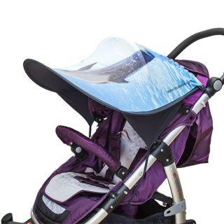 Дизайнерски двулицев сенник за бебешка количка с UV защита - Dolphin