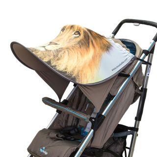 Дизайнерски двулицев сенник за бебешка количка с UV защита - Lion
