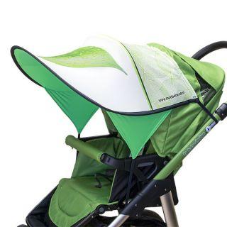 Дизайнерски двулицев сенник за бебешка количка с UV защита - Leaf