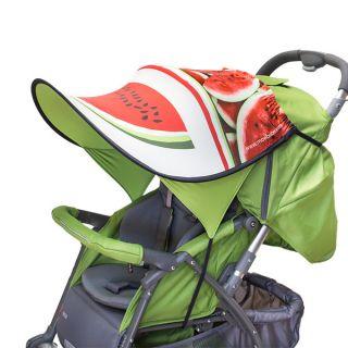 Дизайнерски двулицев сенник за бебешка количка с UV защита - Watermelon
