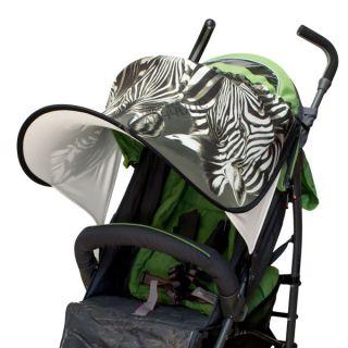 Дизайнерски двулицев сенник за количка с UV защита - Zebra