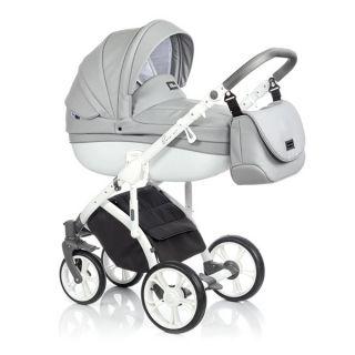 Бебешка количка 2в1 BASS SOFT ECO DOVE WHITE - ROAN