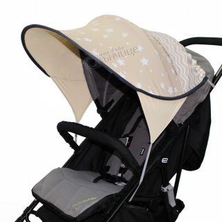 Дизайнерски двулицев сенник за бебешка количка с UV защита - Starry Night