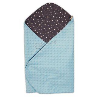 Двулицева пелена Прегърни ме за повиване и изписване Пролет-Лято - Звездички Blue