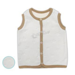 Плюшен елек - Baby Star White