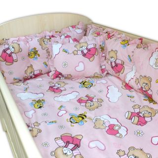Спален комплект от седем части - Sugar Bear Розов
