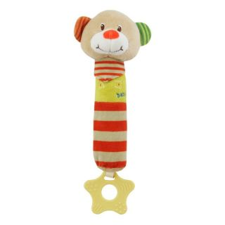Плюшена дрънкалка Мече клоун - BABY MIX