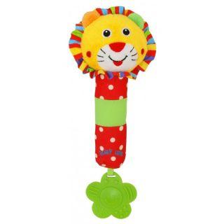 Плюшена дрънкалка Лъвче - BABY MIX
