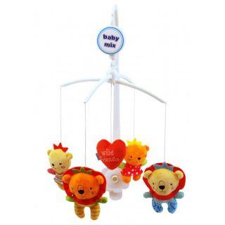 Музикална играчка за легло Wild Friends - BABY MIX