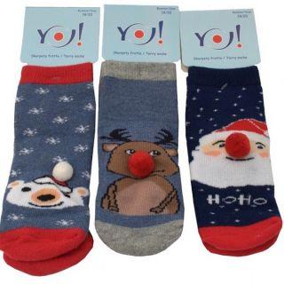Коледни чорапи - Winter Friends Blue