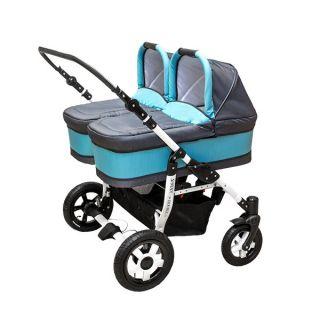 Комбинирана количка за близнаци S-MAX DOUBLE BLUE