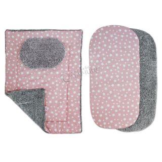 Комплект от четири части за количка зимен - Starry Dreams Pink