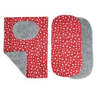Комплект от четири части за количка зимен - Starry Dreams Red