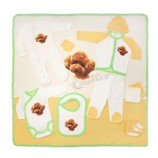 Комплект за изписване 11 части - Little Puppy Жълт/Зелен