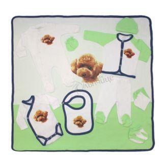 Комплект за изписване 11 части - Little Puppy Зелен/Син