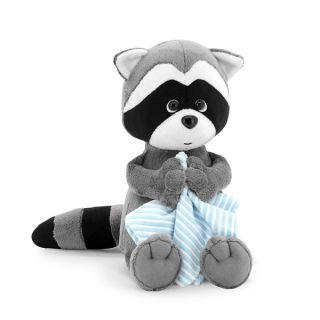 Плюшена играчка Миеща мечка Дени с кърпа - Orange Toys