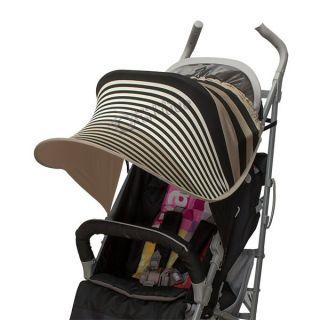 Двулицев сенник за количка с UV защита - Brown