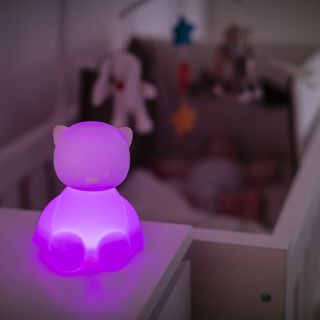 Нощна лампа с гласова активация Коте - Nattou