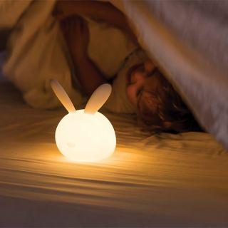 Нощна лампа с гласова активация Зайче - Nattou