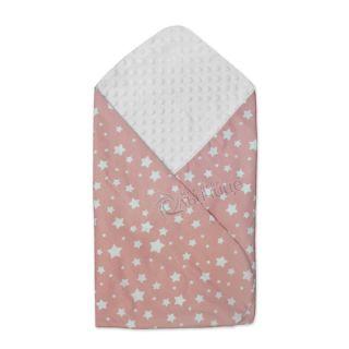 Двулицева пелена Прегърни ме за повиване и изписване Пролет-Лято - Starry Dreams Pink