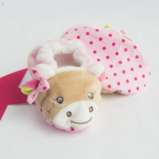 Плюшени пантофки - Pinky Cow - BabyNat