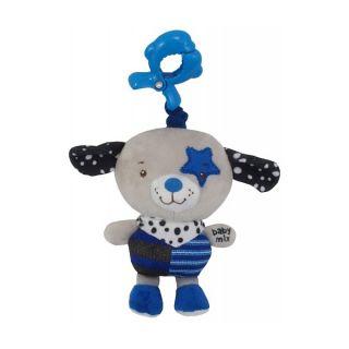 Плюшена музикална играчка Куче с шалче - BABY MIX