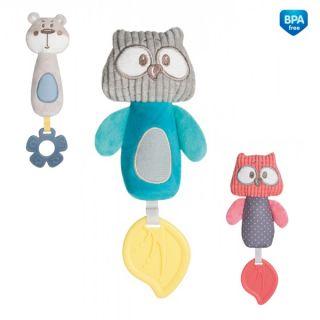 Плюшена играчка със свирка Pastel Friends - CANPOL
