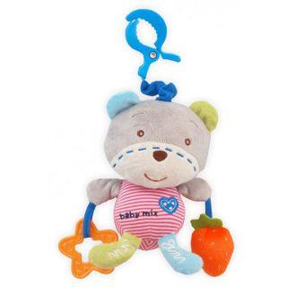 Плюшена музикална играчка Мече Сърце – BABY MIX