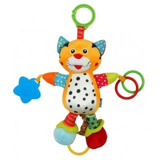 Вибрираща плюшена играчка за количка Тигър - BABY MIX