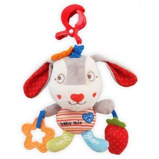 Плюшена музикална играчка Голям заек сърце - BABY MIX