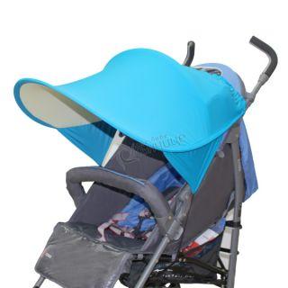 Двулицев сенник за количка с UV защита - Light Blue