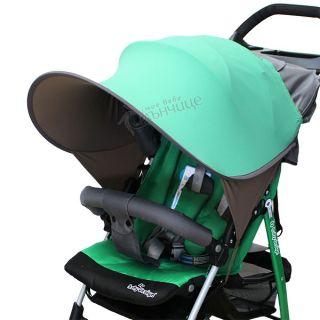 Двулицев сенник за количка с UV защита - Green