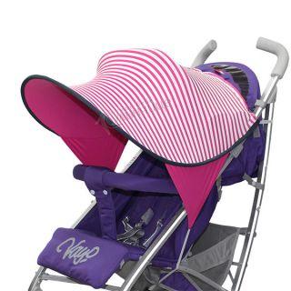 Двулицев сенник за количка с UV защита - Pink