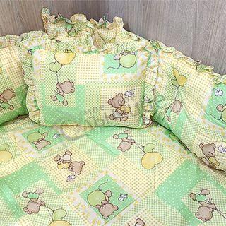 Спален комплект Мече с балони Зелен