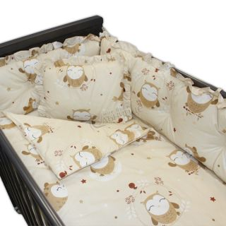 Спален комплект от седем части - Sleeping Owls Бежов