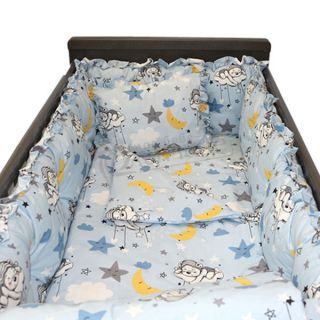 Спален комплект с обиколници - седем части 50х100 Sleepy Bear