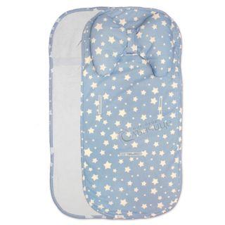Подложка за количка с възглавница и хавлиен гръб - Starry Dreams