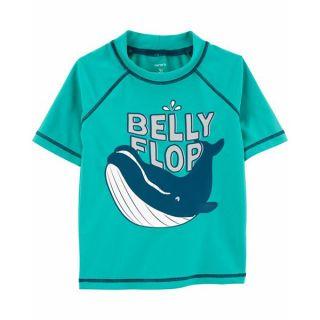 Детска тениска с UV защита Belly flop - Carter's