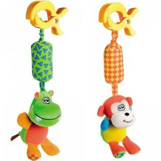 Мека дрънкаща играчка Hippo / Monkey - CANPOL