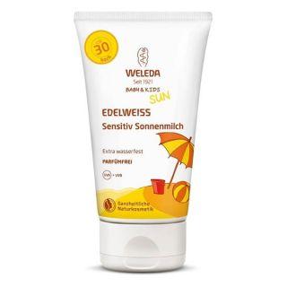 Слънцезащитен лосион с еделвайс за чувствителна кожа SPF30 - Weleda